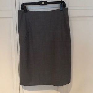 Theory grey pencil skirt
